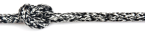 Braid-on-braid polyester melanges rope
