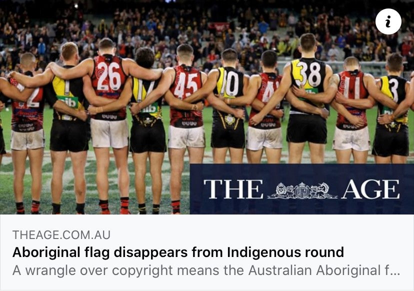AFL Indigenous Round Aboriginal Flag