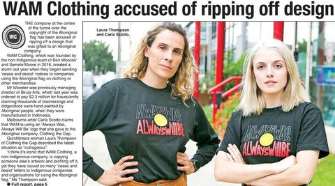 The Koori Mail Clothing The Gap Laura Thompson WAM CLothing Carla Scotto