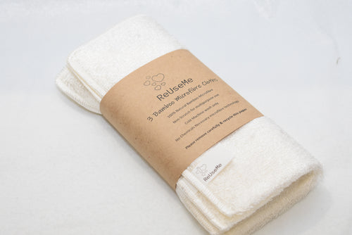 Bamboo Microfiber Cloth 3Pack