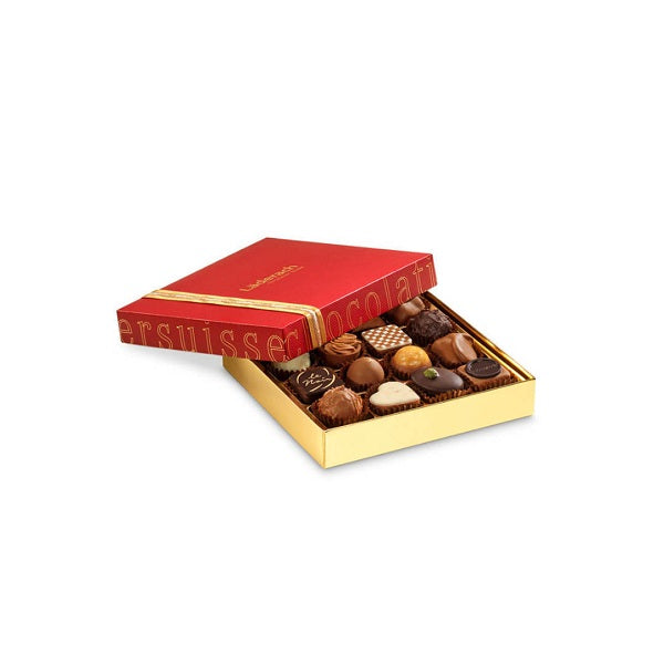 Laderach 16 Pcs Praline Box Red - Laderach Swiss Chococlates