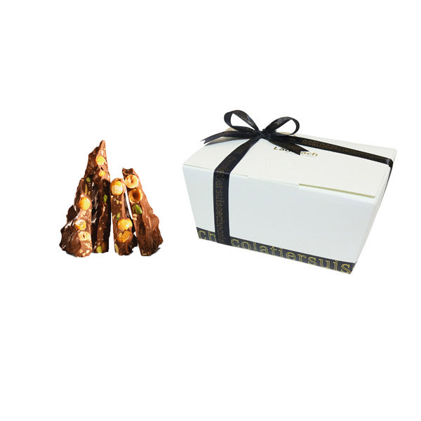 3 Nuts Milk & Dark Chocolate - Laderach Swiss Chococlates