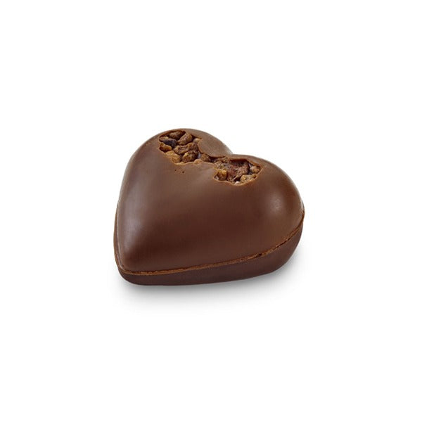 Praline Duo Heart Almond Dark - Laderach Swiss Chococlates