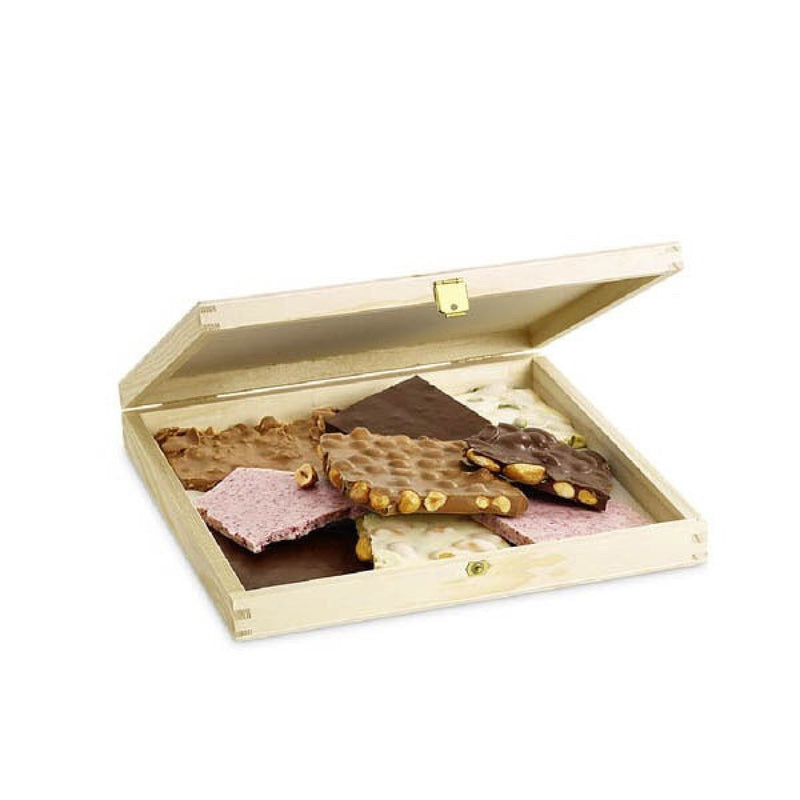 Fresh Chocolate Wooden box 500 G - Laderach Swiss Chococlates