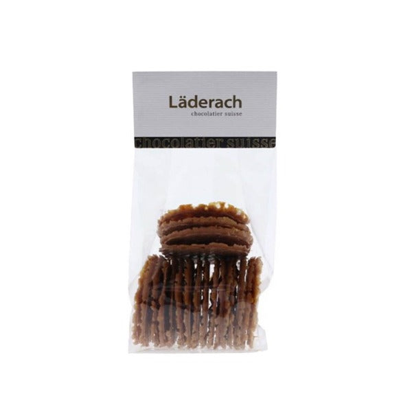 Snacking Crispy Almond Flan - Laderach Swiss Chococlates