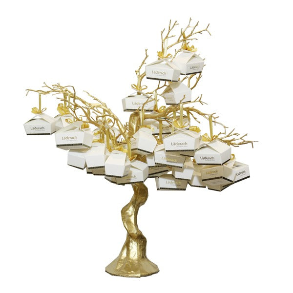Laderach Butterfly Box Gold Tree Arrangement - Laderach Swiss Chococlates