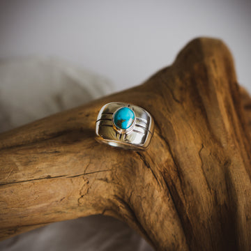 OOAK Turquoise Signet Ring