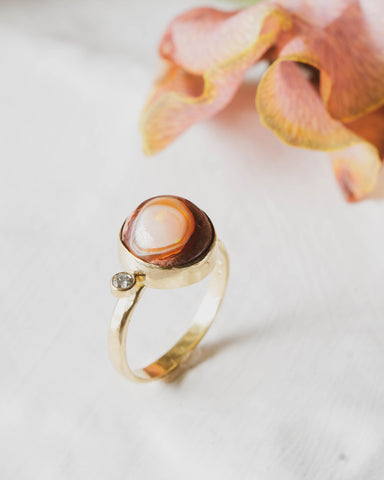 DillonRose Mexican Fire Opal custom engagement ring