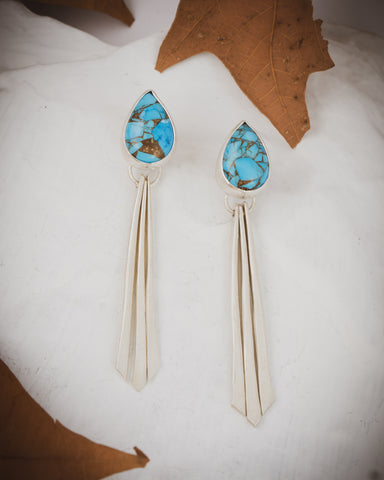 DillonRose turquoise earrings custom jewelry
