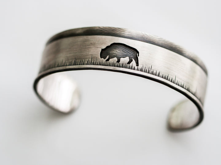Dillon Rose sterling silver buffalo cuff
