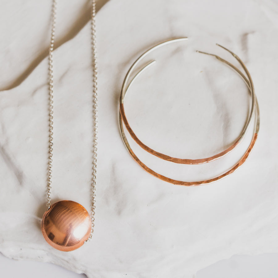 Copper Orb Necklace