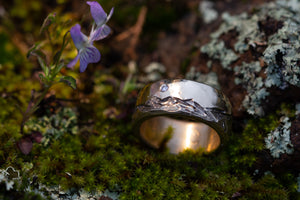 Mens 14K Mountain Ring
