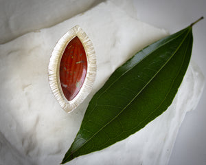 Dragon Jasper Yoni Ring