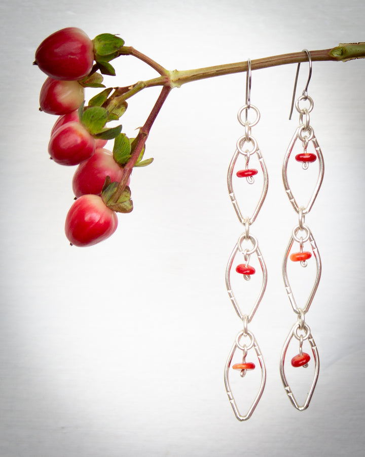 Yoni Coral Bead Earrings