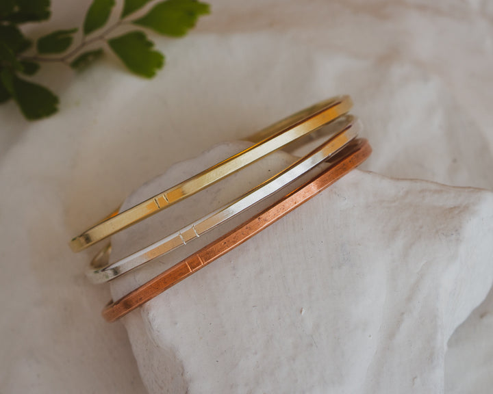 Copper, Sterling Silver or 14K Gold tiny cuff