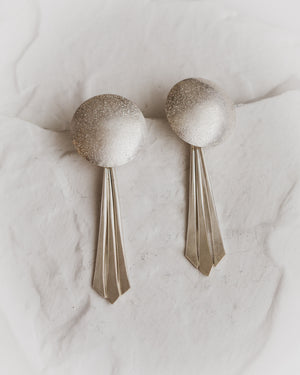 Sterling silver dome earrings. Silver posts.