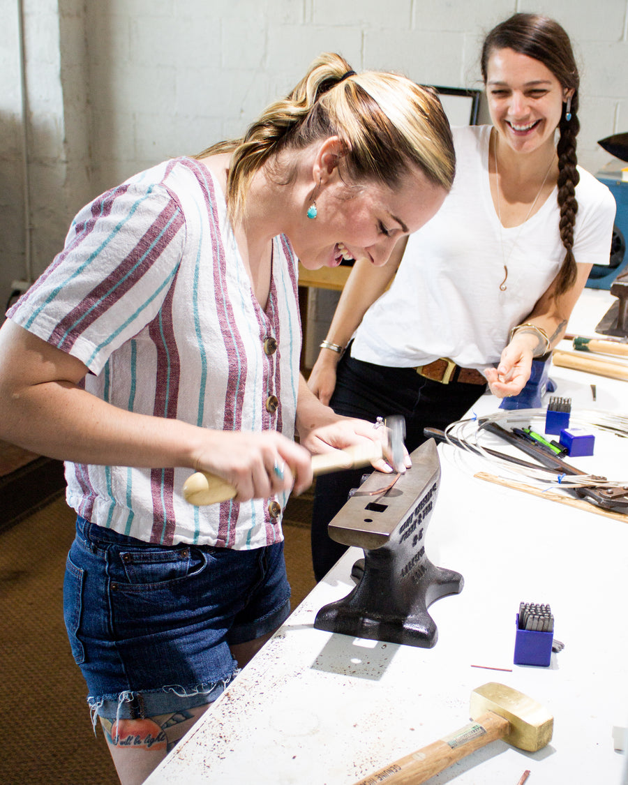Metalsmithing Class at Dillon Rose Studios