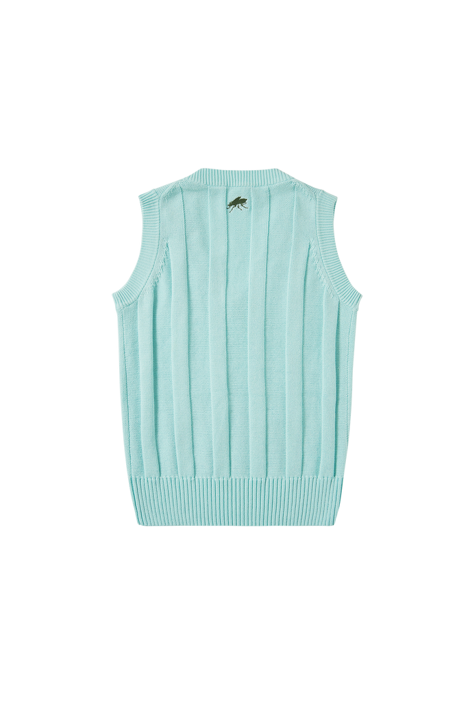 Cotton Cricket Vest - Seafoam
