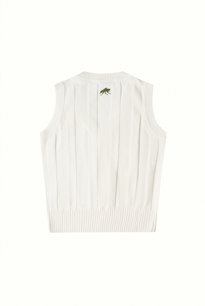 Cotton Cricket Vest - Cream