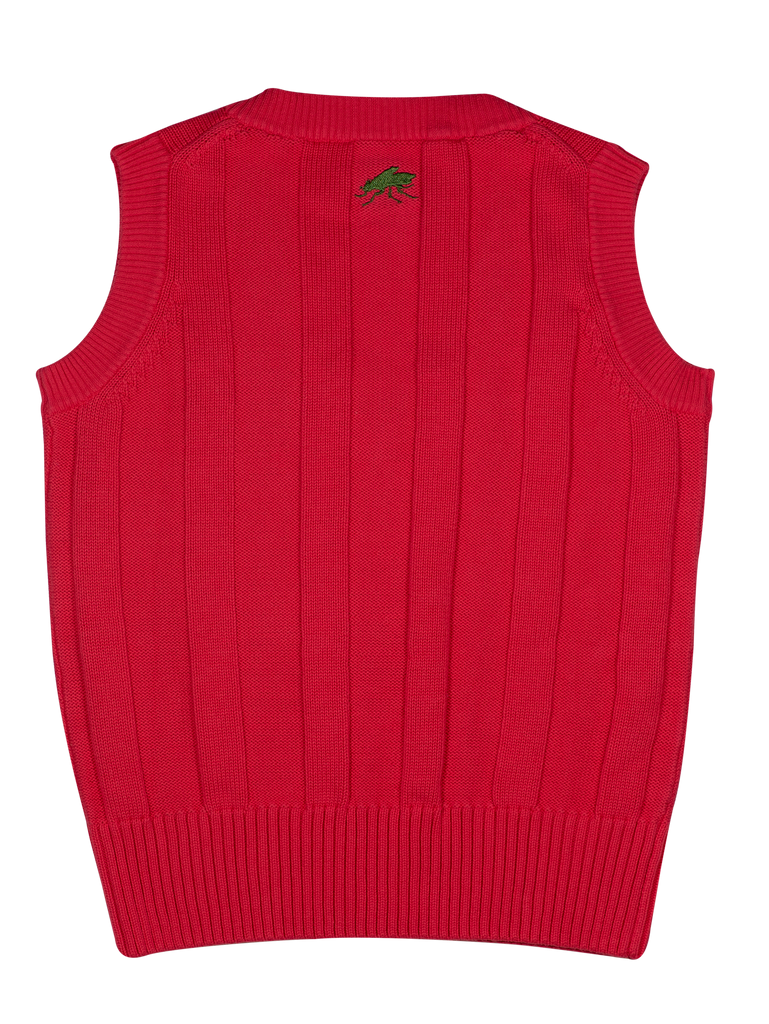 Cotton Cricket Vest - Hot Melon