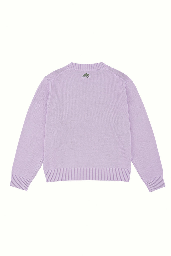 Cotton Crew Neck Jumper - Lilac