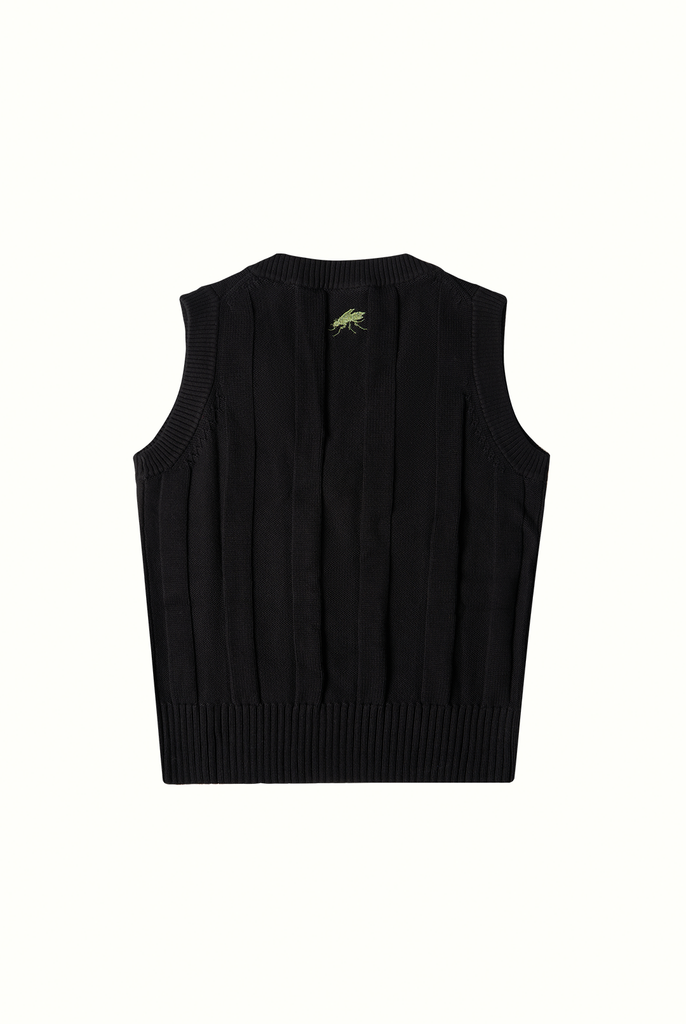 Cotton Cricket Vest - Black