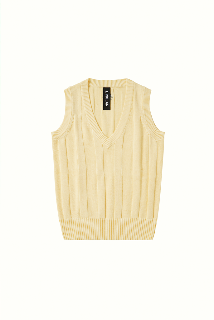 Cotton Cricket Vest - Yellow Sherbet