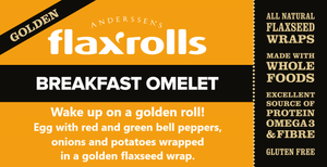 Breakfast Omelette Golden FlaxRoll, Gluten-free (Case of 20)