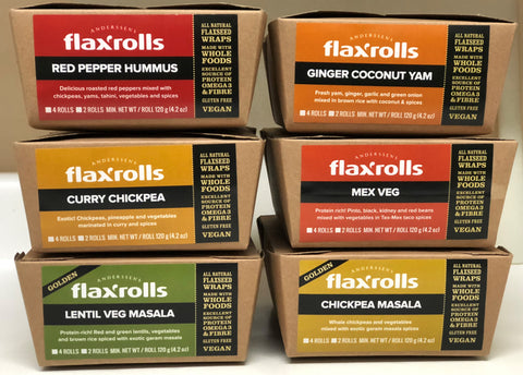 'TASTE TEST' Sampler Box: 12 assorted varieties of FlaxRolls $48 (incl S&H). (FIRST order only)