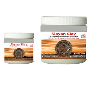 Mayan Pure Indian Healing Clay Powder, Deep Pore Skin Cleansing, Body and Hair Mask, 1 lb & 4 oz. - Mayan's Secret
