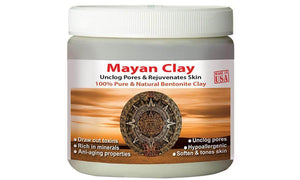 Mayan Pure Indian Healing Clay Powder, Deep Pore Skin Cleansing, Body and Hair Mask, 4 oz - Mayan's Secret