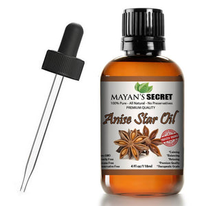 Mayan's Secret Anise Star Essential Oil, 100% Pure Undiluted Therapeutic Grade, Skin Therapy Aromatherapy, 4 oz - Mayan's Secret