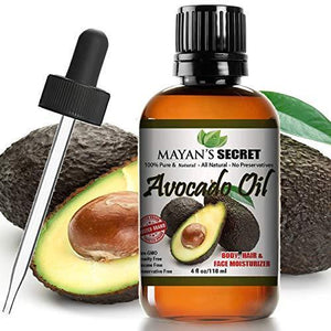 Mayan's Secret Avocado Oil, 100 Pure Moisturizing Avocado Oil, Natural Dry Skin Face Moisturizer, 4 fl oz - Mayan's Secret