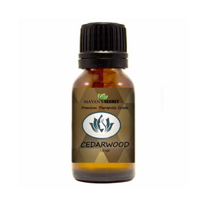 Mayan's Secret Cedarwood Essential Oil, 100% Pure Therapeutic Grade for Sleep, Hair 10ml Glass Bottle - Mayan's Secret