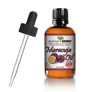 Mayan's Secret Passion Fruit Seed oil (Maracuja Oil), 100% Pure Cold-Pressed Natural Moisturizer, 4 fl oz - Mayan's Secret