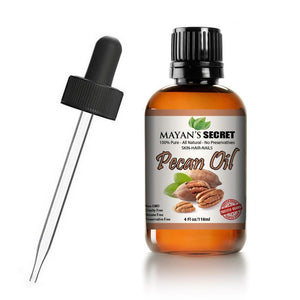 Mayan's Secret Pecan oil, Cold-Pressed Therapeutic Grade for Skin Tightening, Wrinkles Prevention, Rejuvenate Skin Cells, 4 fl oz - Mayan's Secret