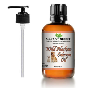 Mayan's Secret Pure Wild Alaskan Salmon Oil for Dogs & Cats, Supports Joint Function, Immune & Heart Health. 4 fl oz - Mayan's Secret