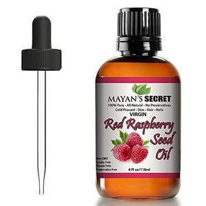 Mayan's Secret Red Raspberry Seed Oil, Cold-Pressed Unrefined, Undiluted, 100% Natural for face, hands, scars and breakouts, 4 fl oz - Mayan's Secret