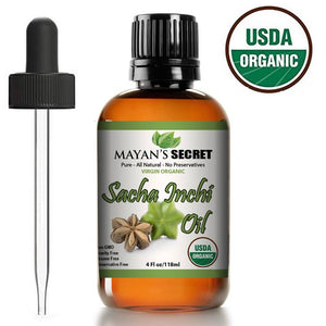 Mayan's Secret Sacha Inchi Oil - USDA Certified Organic Omega3-6-9 Extraodinarily high antioxidant properties for anti-aging Skin - Mayan's Secret
