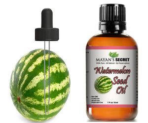 Mayan's Secret Watermelon Seed Oil, Cold-Pressed Virgin Undiluted Carrier oil, Natural Moisturizer for Skin and Hair, 1 oz - Mayan's Secret