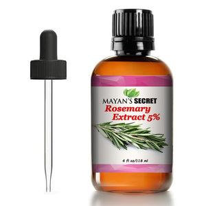 Rosemary Liquid Extract, Alcohol-Free (Rosmarinus officinalis) Antioxidant Protection 4 oz Glass Bottle - Mayan's Secret
