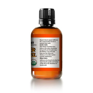 USDA Certigfied Organic Safflower Seed Oil High in Vitamin E and omega-6 fatty acids for anti-aging skin - Mayan's Secret