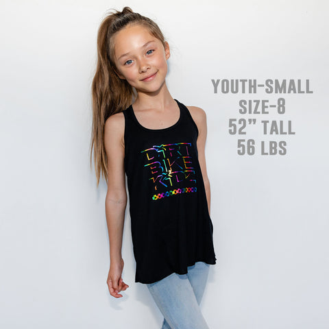 Rainbow Checkers - Youth Girls Tank