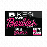 Sticker Pack - Bikes Over Barbies