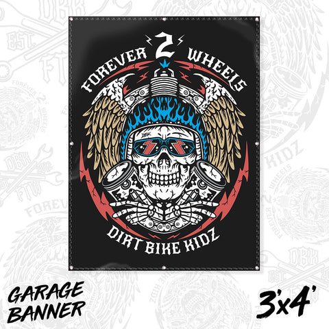 Forever 2 Wheels - Garage Banner