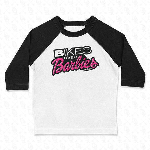 Bikes Over Barbies - 3/4 Sleeve Tee YOUTH