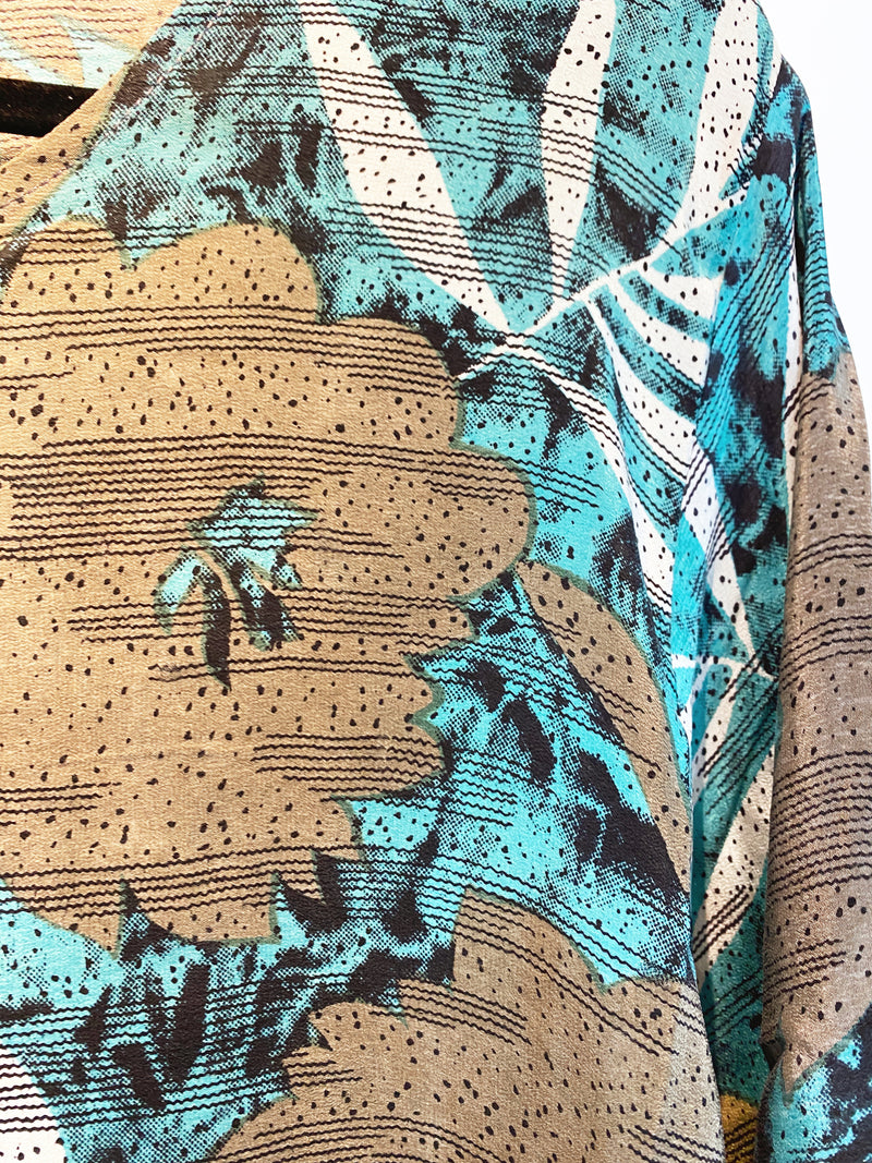 Renoir Sheer Pure Silk Boxy Top - sariKNOTsari slow fashion bryn walker linen Hamilton sustainable fashion gifts sari not sari Hamilton Fair trade  Ethical  Artisan made  Zero waste  Up-cycled Slow Fashion  Handmade  GTA Toronto Copper Pure Upcycled vintage silk handmade recycled recycle copper pure silk travel clothing hamilton vacation cruisewear resortwear bathing suit bathingsuit vacation etsy silk clothing gifts gift dress top pants linen bryn walker alive intentions kaarigar elephants