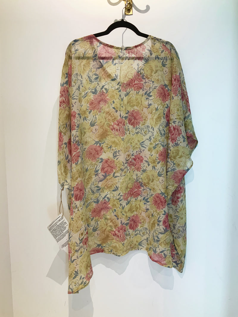 Dust Sheer Wabi-Sabi Pure Silk Short Kaftan Tunic
