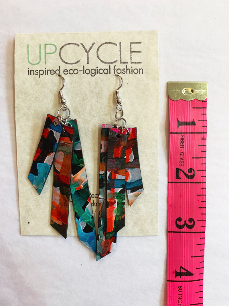Adonis UPCYCLE Rubber Earrings - sariKNOTsari slow fashion bryn walker linen Hamilton sustainable fashion gifts sari not sari Hamilton Fair trade  Ethical  Artisan made  Zero waste  Up-cycled Slow Fashion  Handmade  GTA Toronto Copper Pure Upcycled vintage silk handmade recycled recycle copper pure silk travel clothing hamilton vacation cruisewear resortwear bathing suit bathingsuit vacation etsy silk clothing gifts gift dress top pants linen bryn walker alive intentions kaarigar elephants