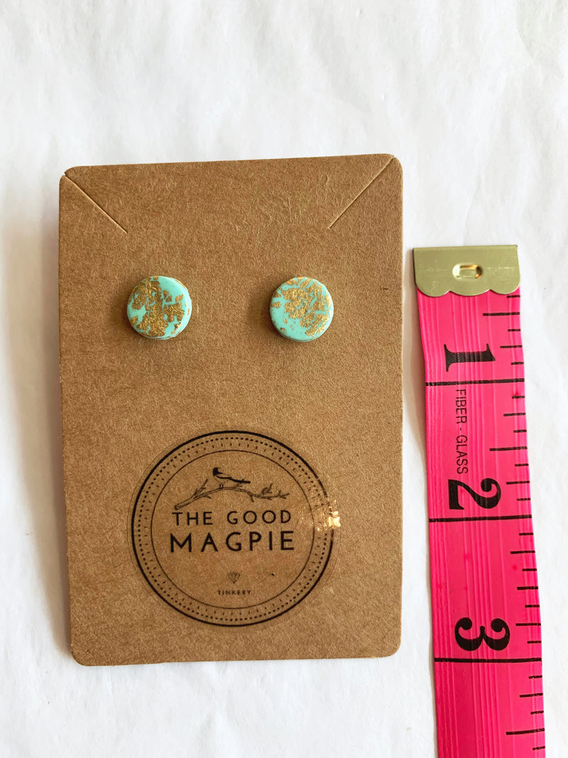 Pigeon Stud Earrings - sariKNOTsari slow fashion bryn walker linen Hamilton sustainable fashion gifts sari not sari Hamilton Fair trade  Ethical  Artisan made  Zero waste  Up-cycled Slow Fashion  Handmade  GTA Toronto Copper Pure Upcycled vintage silk handmade recycled recycle copper pure silk travel clothing hamilton vacation cruisewear resortwear bathing suit bathingsuit vacation etsy silk clothing gifts gift dress top pants linen bryn walker alive intentions kaarigar elephants